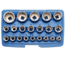 BGS 1/2 Steckschlüssel-Einsätze-Satz 12-kant 8-36mm 21-tlg.